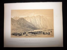 David Roberts Holy Land 1887 Print. Encampment of the Oulad-Said, Mount Sinai